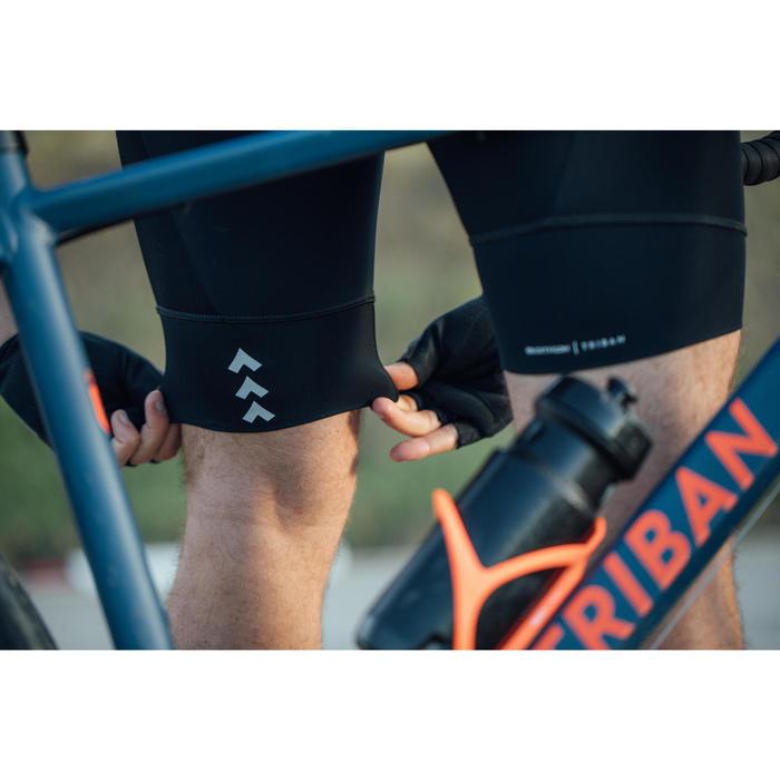 Wielrenbroek RC100 zonder bretels heren zwart/blauw
