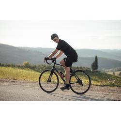 MAILLOT MANCHES COURTES TPS CHAUD VELO ROUTE HOMME CYCLOTOURISME RC100 NOIR