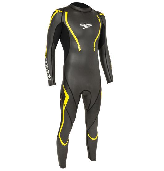 Zwempak Thinswim 2.0 voor open water blauw/geel Speedo - 160462