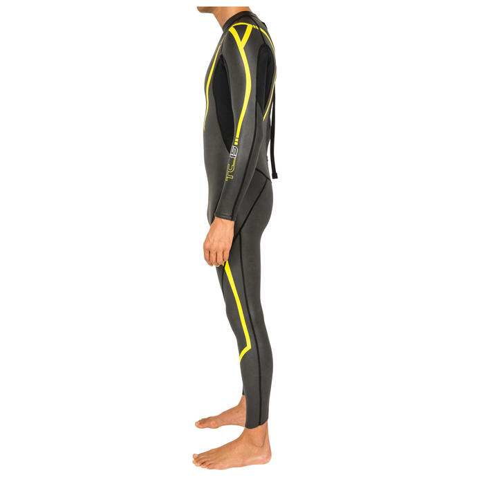 Traje Neopreno Natación Aguas Abiertas Speedo THINSWIM 2 mm Azul Amarillo