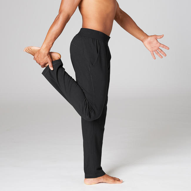 Organic Cotton Gentle Yoga Bottoms - Black