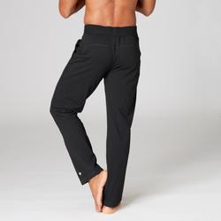 Trainingshose für sanftes Yoga aus Biobaumwolle Herren schwarz