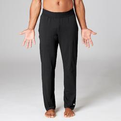 Pantalón Chándal Yoga Domyos Algodón Bio Hombre Negro