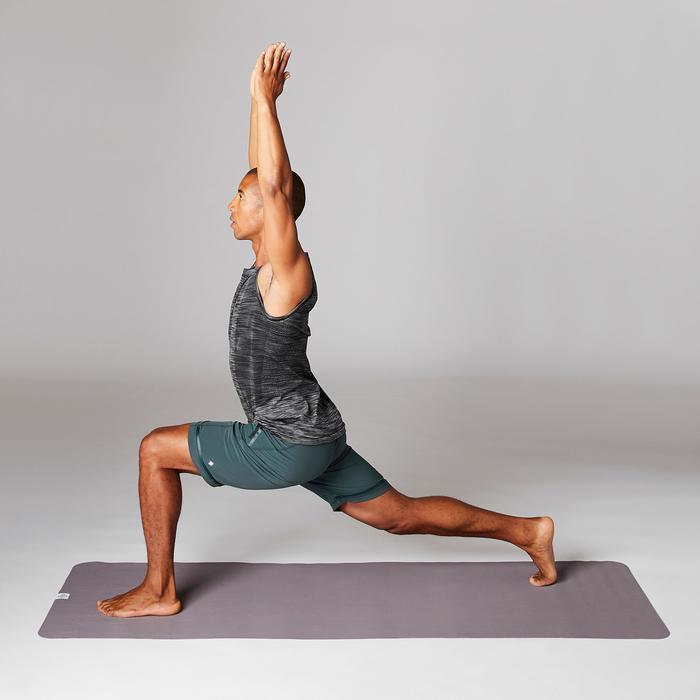Polyester herenshort voor dynamische yoga groen