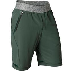 Pantalón Corto Deportivo Yoga Dinámico Domyos Hombre Verde
