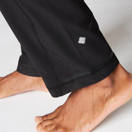 Woven Dynamic Yoga Bottoms - Black