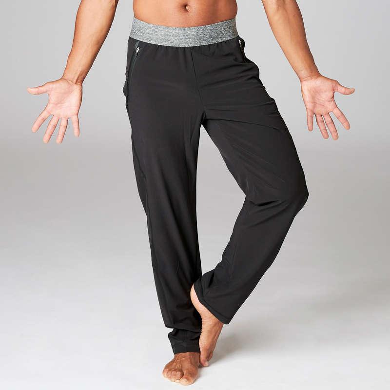 MAN YOGA APPAREL - Men's Woven Yoga Pants - Black DOMYOS