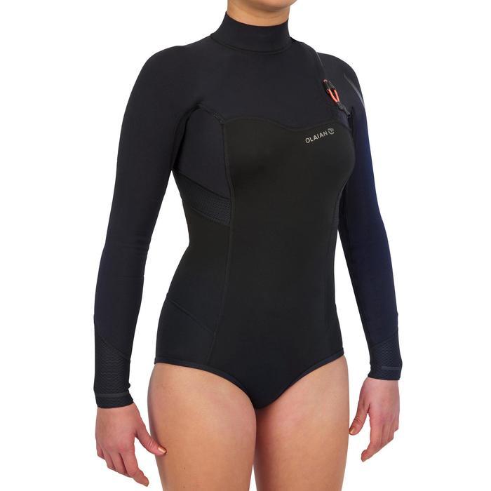 Surfshorty met lange mouwen zonder ritssluiting voor dames