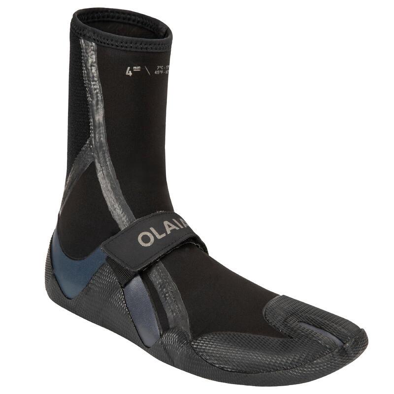 Neoprene surfing boots booties 900 4 mm - black/grey