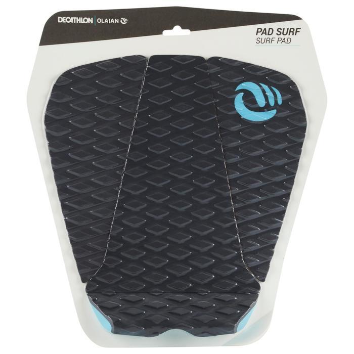 Surfpad 500 3 delen voor achterste voet surfboard zwart