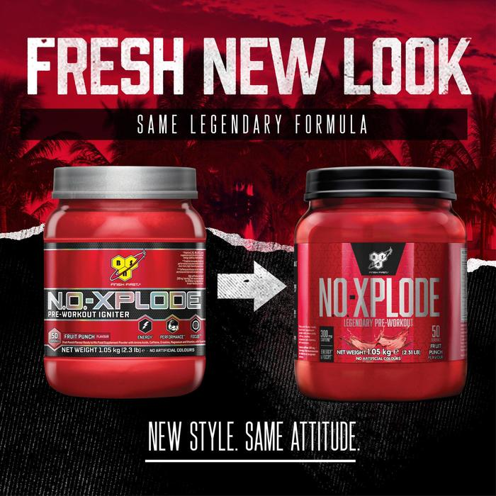 PRE WORKOUT NO-XPLODE 3.0 BSN Fruit punch 600 g