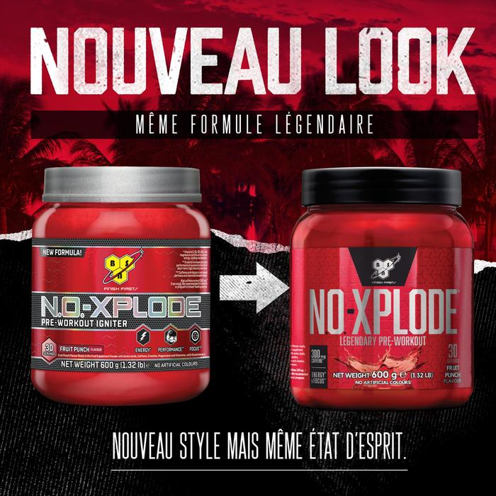 PRE WORKOUT NO-XPLODE Fruit punch 1kg