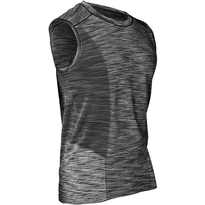 Seamless Yoga Tank Top - Black/Grey