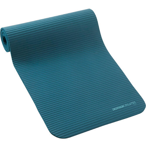 Tapis pilates 100 confort taille S 10mm bleu