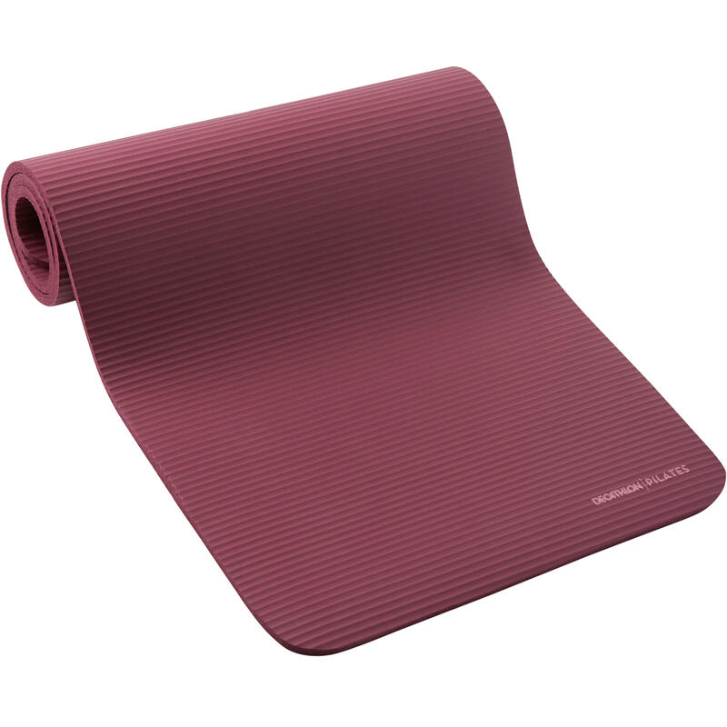 Pilates Comfort Mat, Size Medium 180cmx60cmx15mm - Burgundy