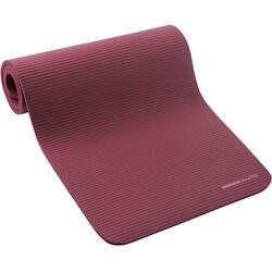 Gymmatje voor pilates 500 Comfort maat M 15 mm bordeaux
