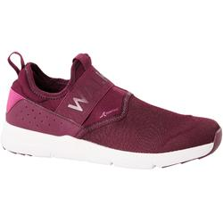 女款健走鞋Slip-On-紫色