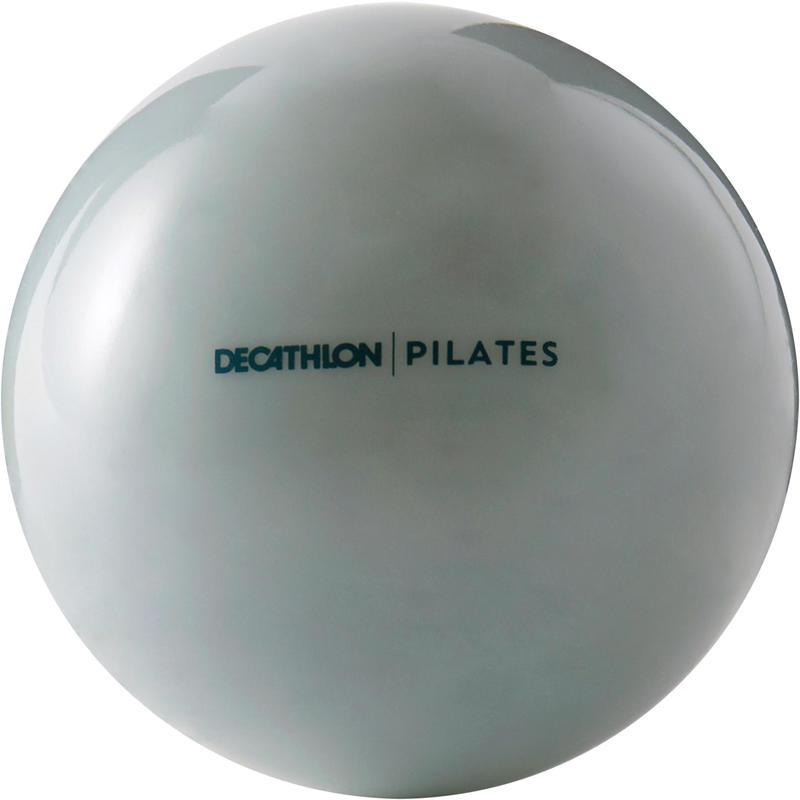 Gym Pilates Weighted Medicine Ball 450g - Abu-abu