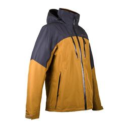 男士三合一健行外套RainWarm 500 –褐色