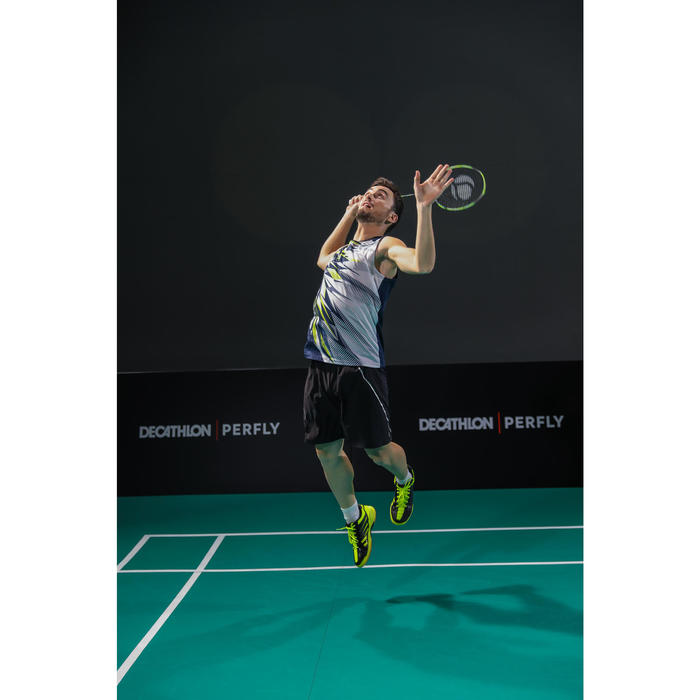 Badmintonschoenen voor heren Artengo BS 590 Max Comfort zwart en geel