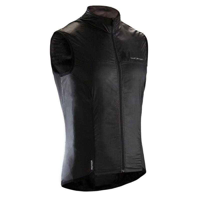 PÁNSKÉ VĚTRUODOLNÉ OBLEČENÍ NA SILNIČNÍ CYKLISTIKU Cyklistika - VĚTRUODOLNÁ VESTA ULTRALIGHT VAN RYSEL - Cyklistické oblečení