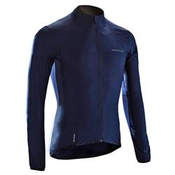 Road Cycling Ultra-Light Long-Sleeved Windproof Jacket - Navy Blue