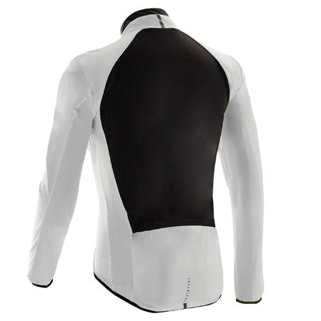 Road Cycling Ultra-Light Long-Sleeved Windproof Jacket - White