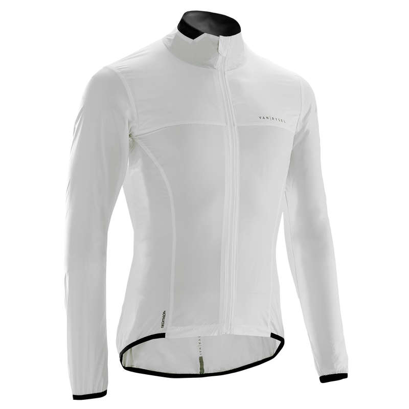 MEN ROAD WINDSTOPPER Cycling - RC 500 Ultralight Windproof Cycling Jacket - White  VAN RYSEL - Cycling