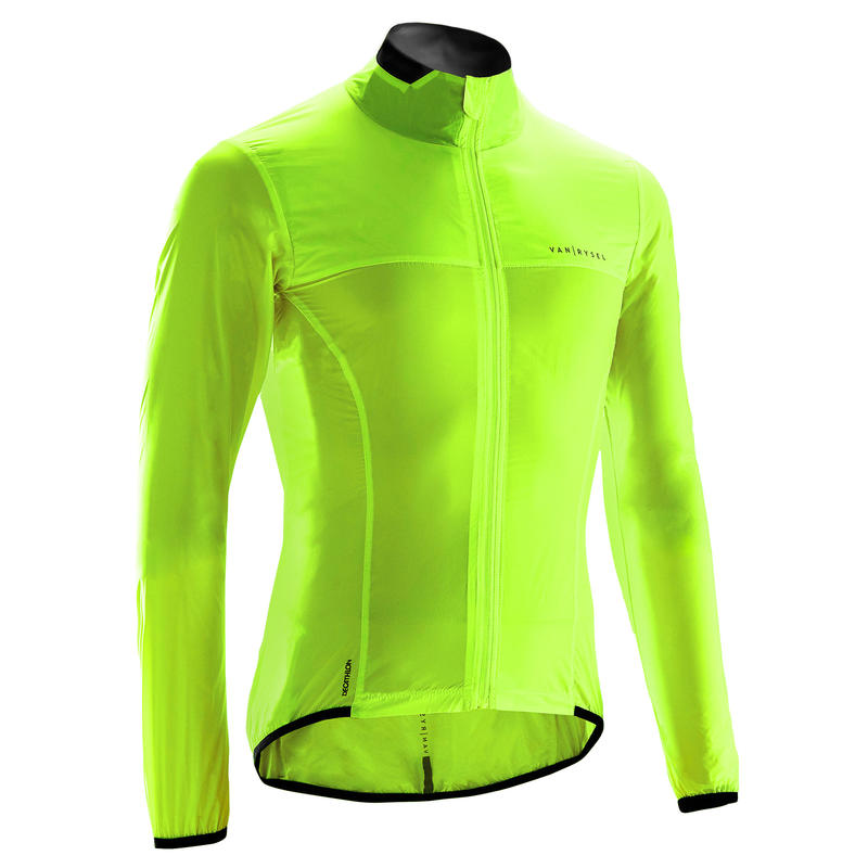 Road Cycling Ultra-Light Long-Sleeved Windproof Jacket Yellow