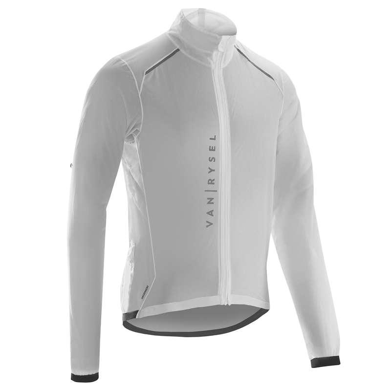 MEN ROAD WINDSTOPPER Cycling - RR900 Ultralight Cycling Rain Jacket - White VAN RYSEL - Cycling