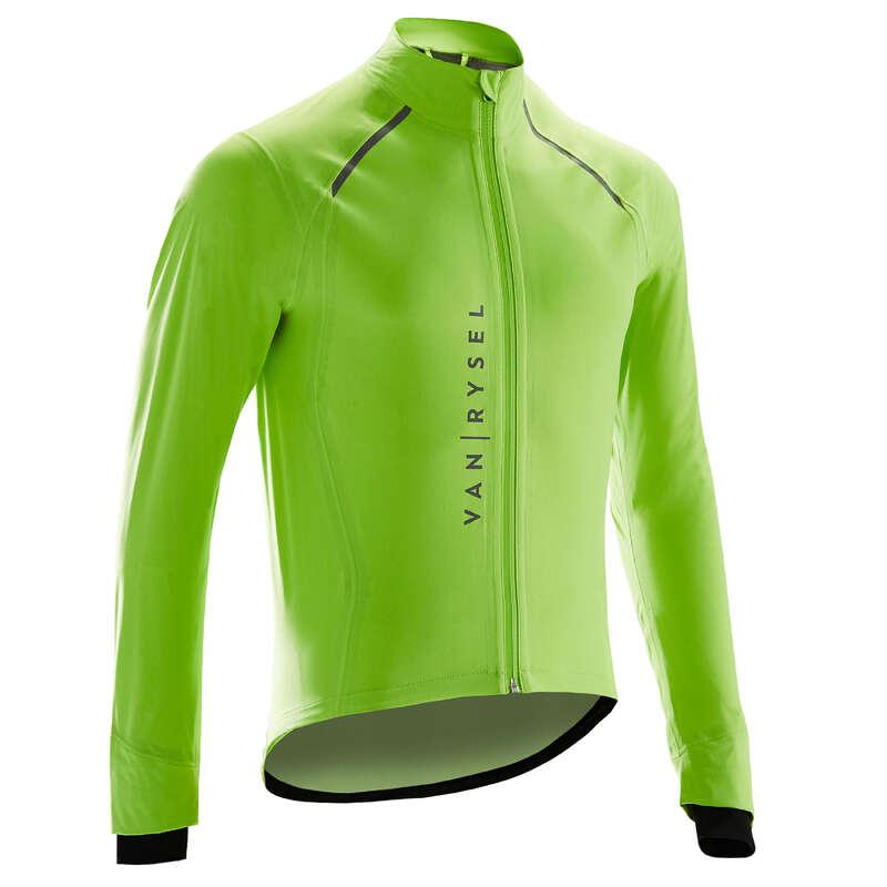 MEN ROAD CYCLING BIKES - RR 900 Waterproof Cycling Jacket - Lime VAN RYSEL