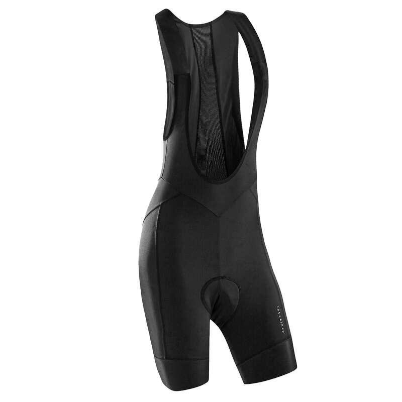 WOMEN WARM WEATHER ROAD APPAREL Clothing - RR 900 Women's Cycling Bib Shorts - Black VAN RYSEL - By Sport