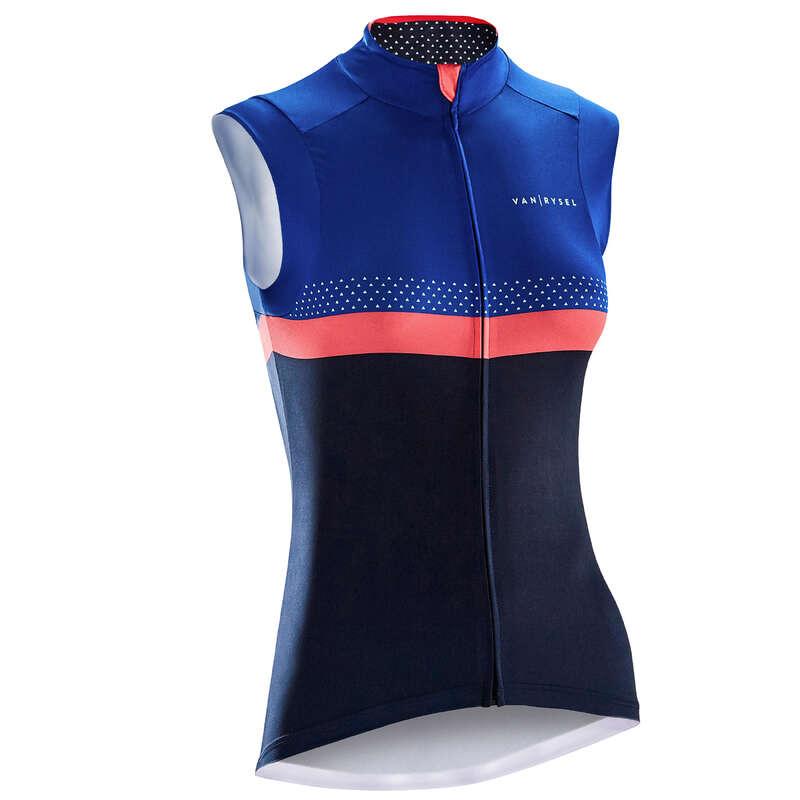 WOMEN WARM WEATHER ROAD APPAREL Clothing - RR 900 Women's Sleeveless Cycling Jersey - Navy/Blue VAN RYSEL - By Sport