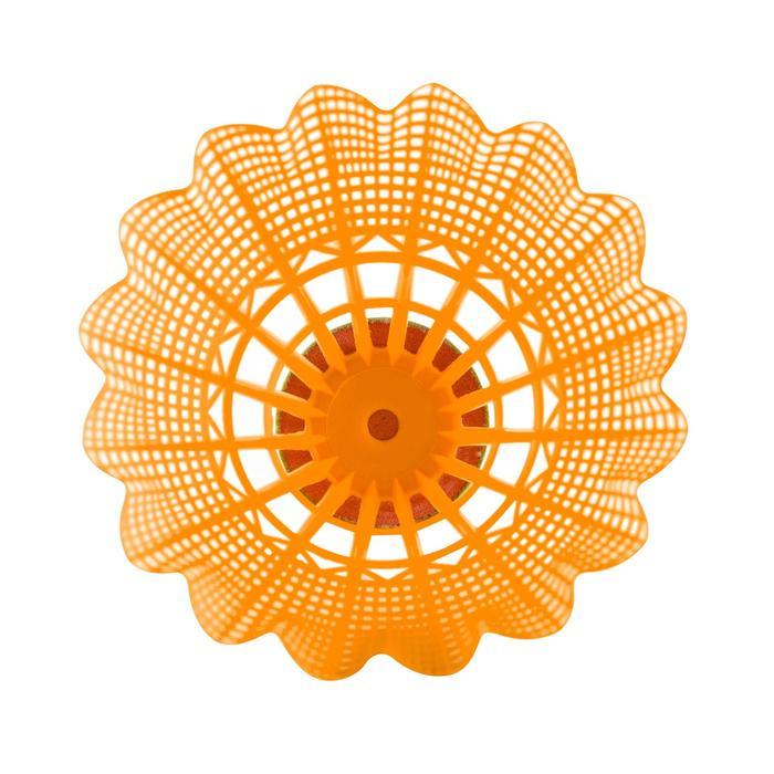 Volant De Badminton En Plastique PSC 100 X 3 - Blanc/Gris/Orange