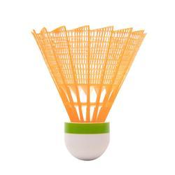 中速塑膠羽毛球PSC 100(3入)-白/綠/橘色