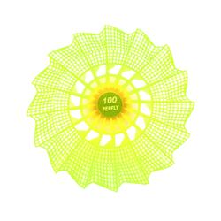 PLASTIC SHUTTLECOCK PSC 100 Medium 3-Pack - Yellow
