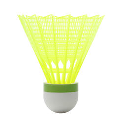 PSC 100 Medium Plastic Shuttlecock x 6 - Yellow