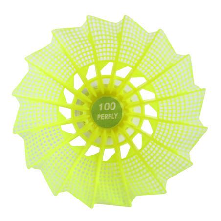 """Plastmasas volāns """"PSC 100"""", vidējs, 6 gab, dzeltens"""