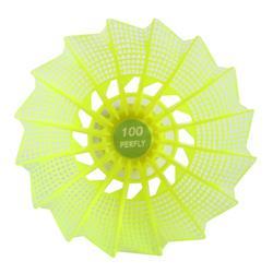 6入中等塑膠羽球PSC 100-黃色