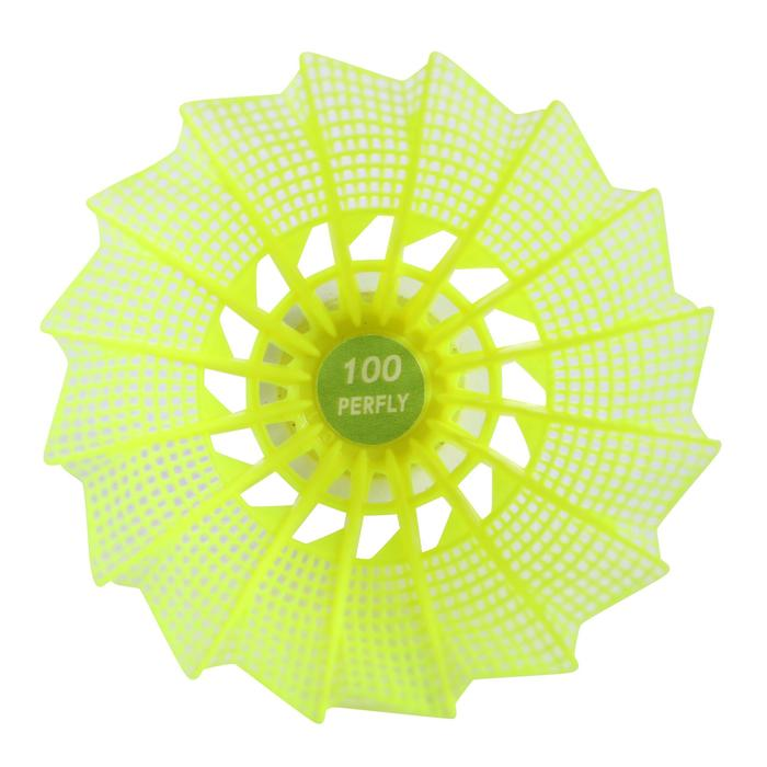 PSC 100 Medium Plastic Shuttlecock x 6 - Yellow