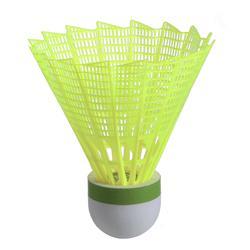 Badmintonshuttles in plastic PSC 100 6 stuks geel