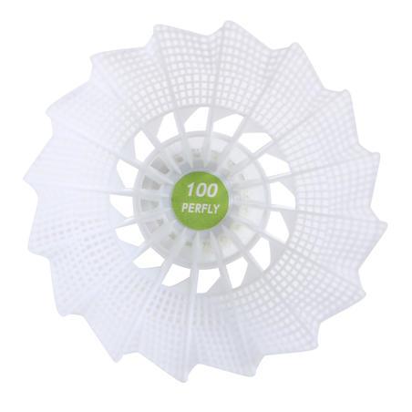 PSC 100 Medium Plastic Shuttlecock x 6 - White