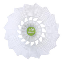 PSC 100 Medium Plastic Shuttlecock x 6 - White