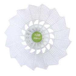 Volant de badminton en plastique PSC 100 X 6 - BLANC