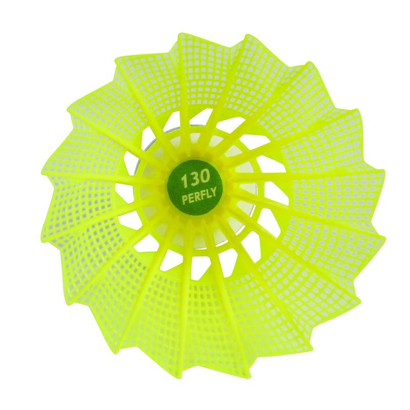 Volant De Badminton Extérieur PSC 130 X 3 - blanc/jaune /orange