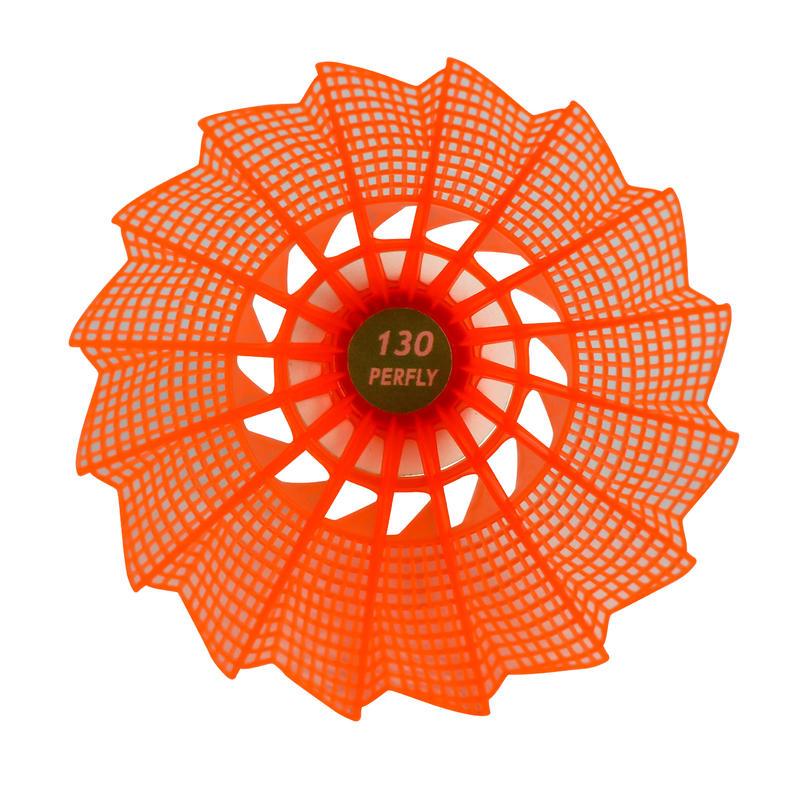 VOLANTS DE BADMINTON OUTDOOR PSC 130 x 3 - Orange/Jaune/Blanc