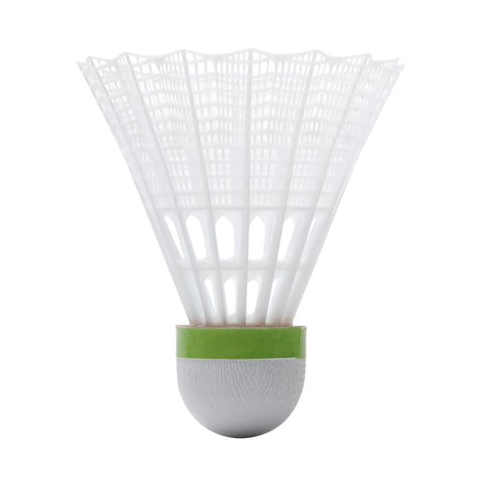 Lot De 6 Volants De Badminton En Plastique PSC 500 Medium - Blanc
