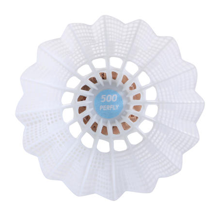 PLASTIC SHUTTLECOCK PSC 500 MEDIUM X 6 WHITE