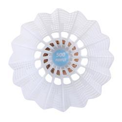 Volant De Badminton En Plastique PSC 500 X 6 - Blanc