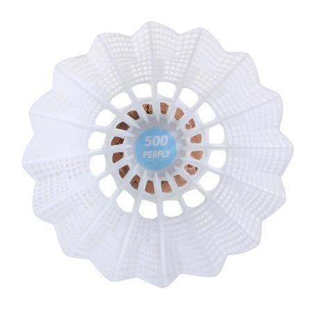 Lot de 6 volants de badminton en plastique PSC 500 Moyen - Blanc